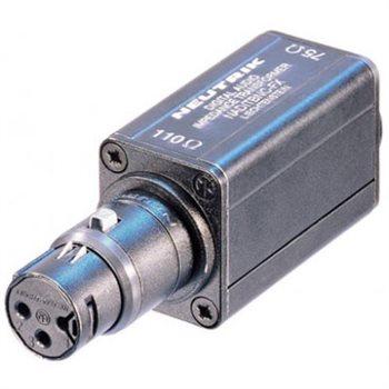 Neutrik Adaptor AES/EBU (110R/75R) BNC-XLR F Plug NADITBNC-FX