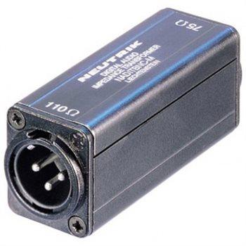 Neutrik Adaptor AES/EBU (110R/75R) BNC-XLR M NADITBNC-M