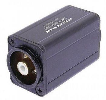 Neutrik Adaptor BNC Socket to Phono Skt White NA2BBNC-D9B NA2BBNC-D9B