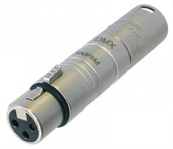 Neutrik Adaptor XLR 3 Pin Female to 5 Pin Male NA3F5M