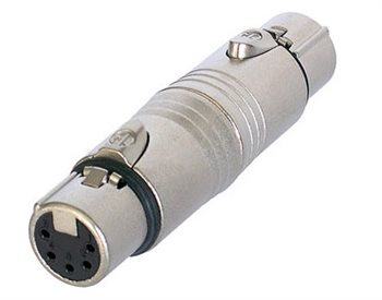 Neutrik Adaptor XLR 5 Pin Female to XLR 5 Pin Female NA5FF NA5FF