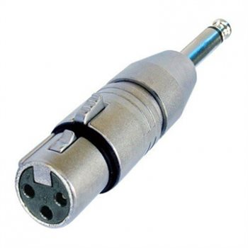 Neutrik Adaptor XLR Female to 1/4in Mono Jack Plug NA2FP