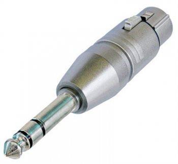 Neutrik Adaptor XLR Female to 1/4in Stereo Jack Plug NA3FP