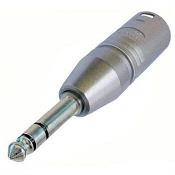 Neutrik Adaptor XLR Male to 1/4in Stereo Jack Plug NA3MP