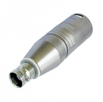 Neutrik Adaptor XLR Male to BNC Socket NA2MBNC