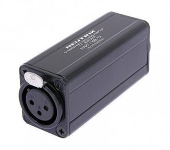 Neutrik DI Impedance matching FX / Phono Blk 1:1 NA2F-D0B-TX