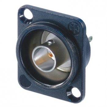 Neutrik BNC D Chassis Black Isolated Solder Contacts NBB75DSIB