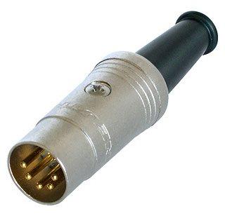 Neutrik Din Plug 5 Pole Cable Gold PIns NYS322G