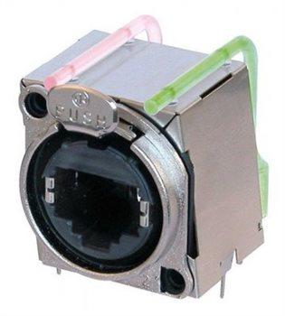 Neutrik EtherCON Chassis B Series Horz PCB Mount 2 Light Pipes 3mm LEDs NE8FBH-LED