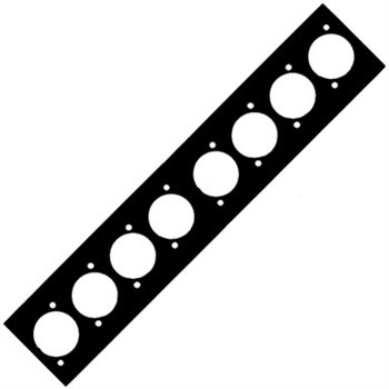 Neutrik Neutrik 8 Way Punched Plate For Modular Stage Box 8 x Unified D NSB-8WAYPANAL