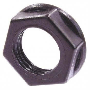 Neutrik Hexagonal plastic nut, black plastic NRJ-NUT-B