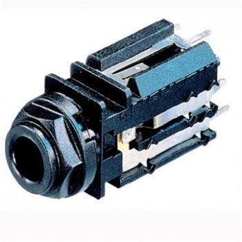 Neutrik Jack Socket 1/4in Vertical PCB Sw/Stereo NJ5FD-V