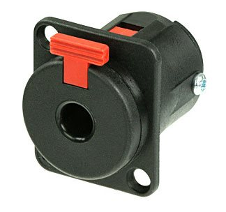 Neutrik Black Plastic Mono/Stereo Jack Socket NJ3FP6P-BAG