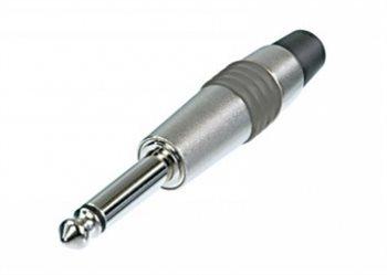 Neutrik 1/4in Mono Jack Plug All Metal Green Ring NYS224C-5
