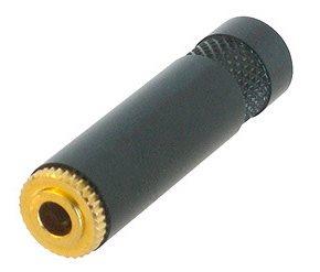 Neutrik 3.5mm Stereo Jack Cable Socket Black Body Gold Pins NYS240BG