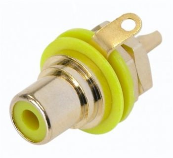 Neutrik Gold Plated RCA/Phono Socket - Yellow Isolation NYS367-4 NYS367-4