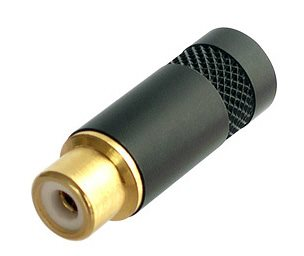 Neutrik Phono Gold Plated Contacts Black Shell NYS372P-BG
