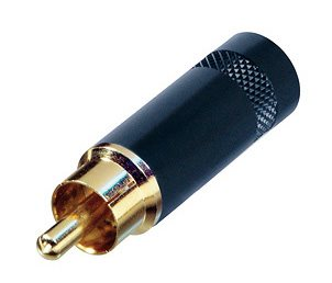 Neutrik Phono Plug Black Body Gold Pins NYS352BG