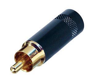 Neutrik Phono Plug Black Body Gold Pins NYS352BG