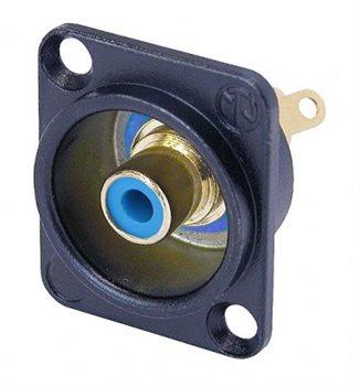 Neutrik Phono Chassis Socket Blue Solder Terminals Black Shell NF2D-B6 NF2D-B-6
