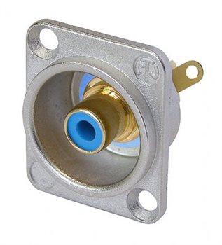Neutrik Phono Chassis Socket Blue Solder Terminals NF2D-6 NF2D-6