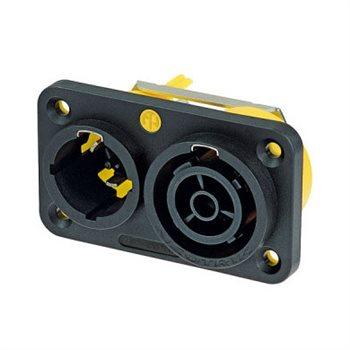 Neutrik PowerCon True 1 Mains Chassis Duplex CBC NAC3PX