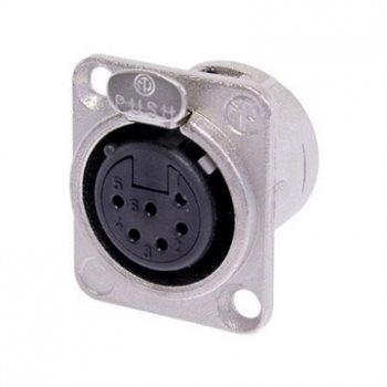 Neutrik XLR 6 Pin Female Chassis Switchcraft compatible NC6FSD-L-1 NC6FSD-L-1