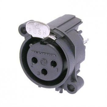 Neutrik XLR 3 Pin Female Ch AA Series Vert PCB NC3FAAV NC3FAAV