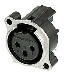 Neutrik XLR 3 Pin Female Chassis B spring no latch NC3FBAH2-0 ~Whilst Stocks LAst~ NC3FBAH2-0