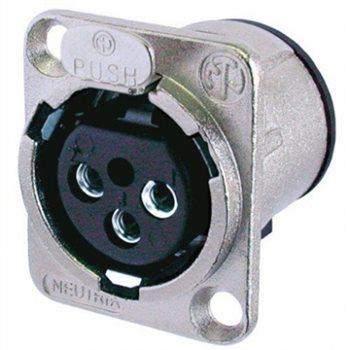 Neutrik XLR 3 Pin Female Chassis Unified PCB Mount NC3FD-V