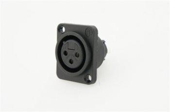 Neutrik XLR 3 Pin Female XLR Chassis Plastic Shell NC3FPP