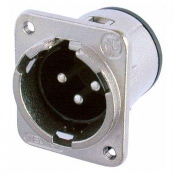 Neutrik XLR 3 Pin Male Ch/rear Insert/Vert PCB NC3MDM3-V NC3MDM3-V