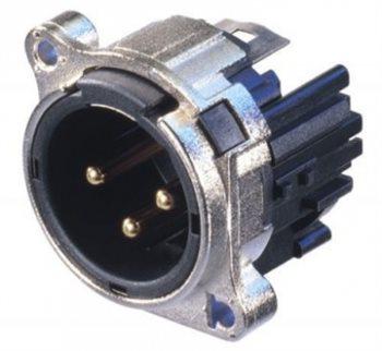 Neutrik XLR 3 Pin Male Chassis  B Series R/Hand PCB NC3MBHR NC3MBHL