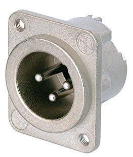 Neutrik Neutrik XLR 3-poliger Chassisstecker DLX, Male, 3mm M3 - NC3MD-LX-M3