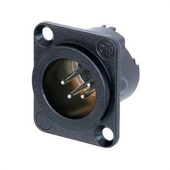 Neutrik XLR 4 Pin Male Chassis  Black Body NC4MD-LX-BAG NC4MD-LX-BAG