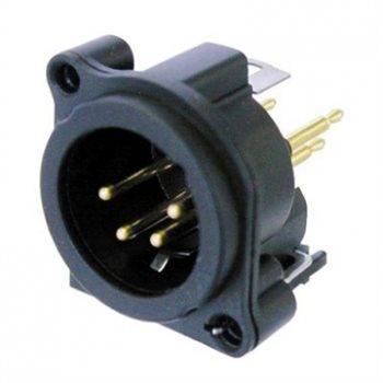 Neutrik XLR 4 Pin Male Chassis A Series Verticle PCB NC4MAV NC4MAV
