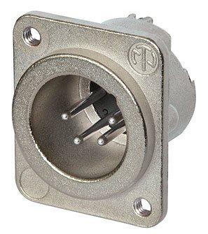 Neutrik XLR 4 Pin Male Chassis Tapped Hole NC4MD-LX-M3 NC4MD-LX-M3