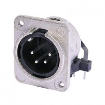 Neutrik XLR 4 Pin Male Chassis Hoz PCB Mount NC4MDM3-H NC4MDM3-H