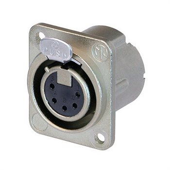 Neutrik XLR 5 Pin Female Tapped Holes NC5FD-LX-M3