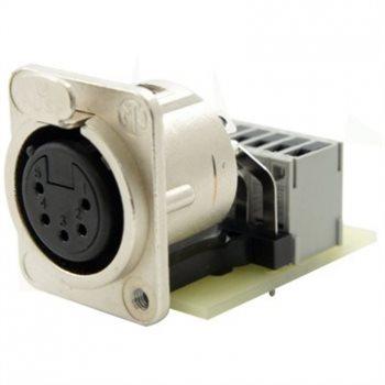 Neutrik XLR 5 Pin Female PCB IDC Tapped Hole NC5FDM3-H-PCB-IDC