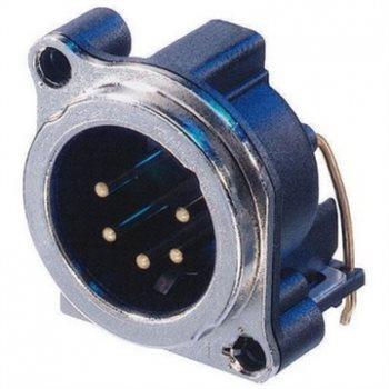 Neutrik XLR 5 Pin Male Chassis B Series H/PCB NC5MBH