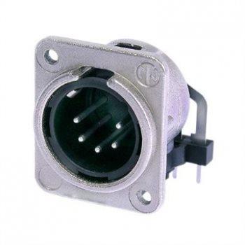 Neutrik XLR 5 Pin Male Chassis Rear Insert H/PCB NC5MDM3-H