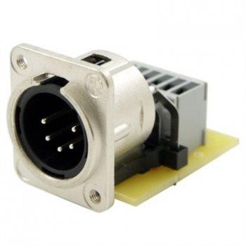 Neutrik XLR 5 Pin Male PCB IDC Tapped Hole NC5MDM3-H-PCB-IDC