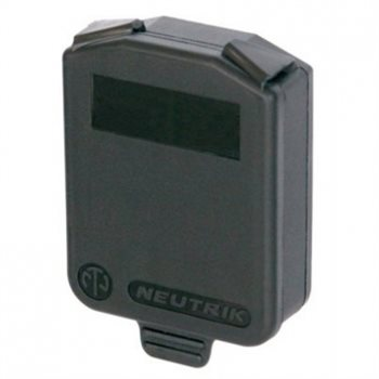 Neutrik D Sized Hinged Cover Black SCDX
