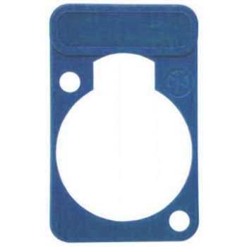 Neutrik Lettering Plate Blue for D-Chassis Connector DSS-Blue