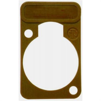 Neutrik Lettering Plate Brown for D-Chassis Connector DSS-Brown DSS-Brown