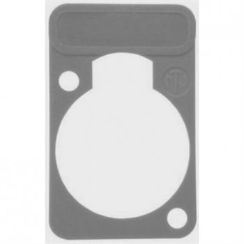 Neutrik Lettering Plate Grey for D-Chassis Connector DSS-Grey