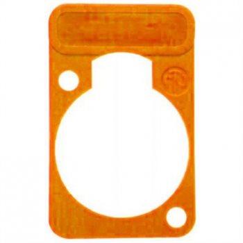 Neutrik Neutrik Farbige Beschriftungsplatte für D-Serie-Gehäuse, Orange - DSS-3-Orange
