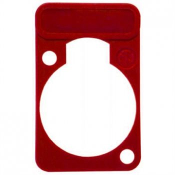 Neutrik Lettering Plate Red for D-Chassis Connector DSS-Red