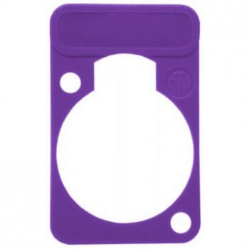 Neutrik Lettering Plate Violet for D-Chassis Connector DSS-Violet